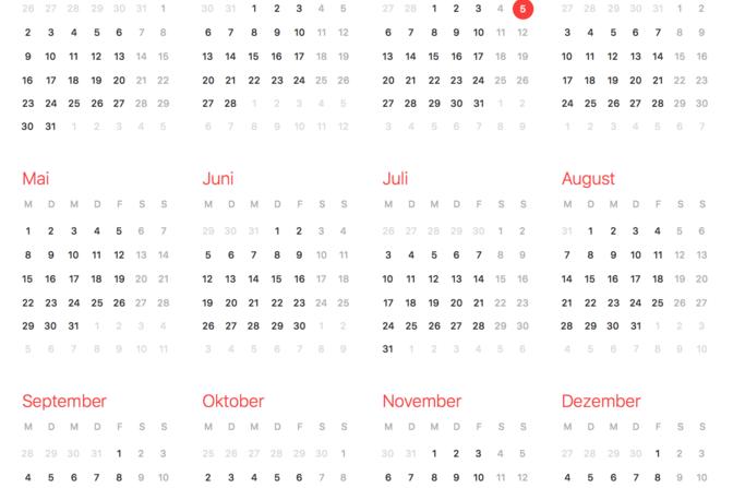 kalenderblatt - Fremdsprachen Lebenslauf